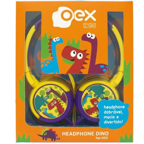 Imagem de Fone De Ouvido Headphone Dino Infantil OEX HP300