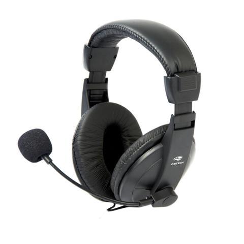 Fone de Ouvido Headset Voicer Confort Preto Ph-60bk C3 Tech Mi2260
