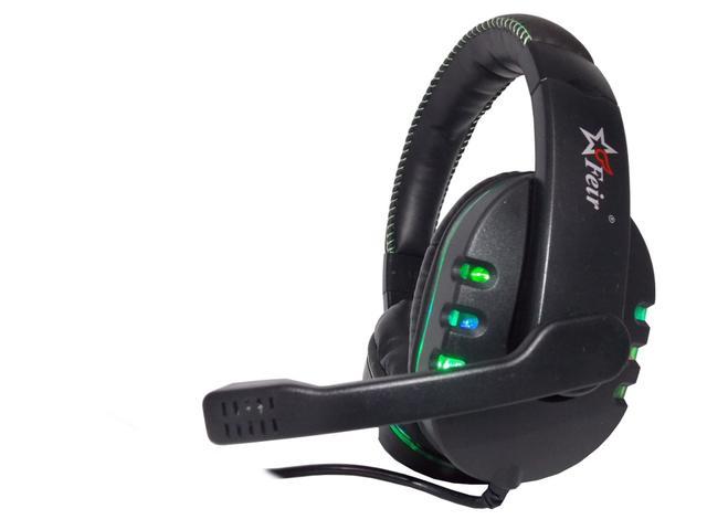 Imagem de Fone De Ouvido Headset Gamer Usb com Luz Led para PC, PS4, Notebook - Verde