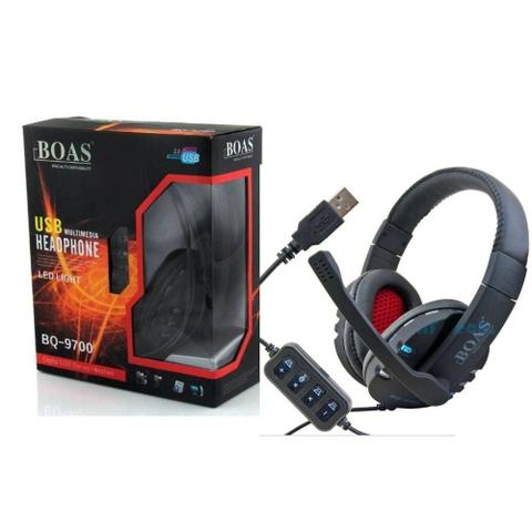 Imagem de Fone De Ouvido Headset Gamer USB p/ Pc Ps4 Ps3 Notebook Bq-9700 - Preto C
