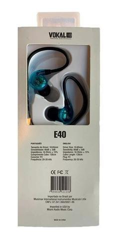 Imagem de Fone De Ouvido In Ear Retorno Palco Profissional Vokal E40
