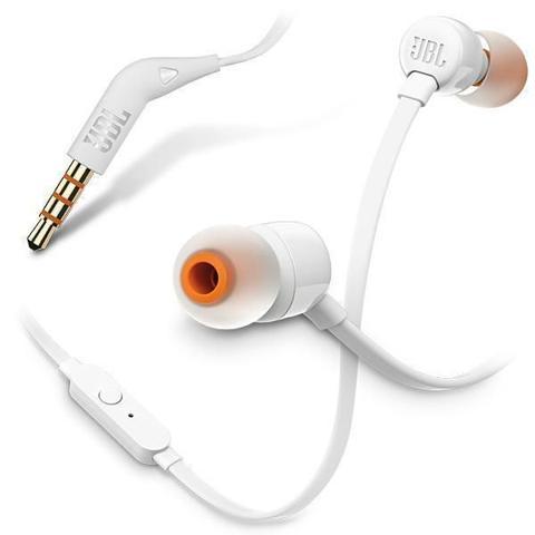 Imagem de Fone de Ouvido Intra-auricular com Microfone JBL T110 Branco