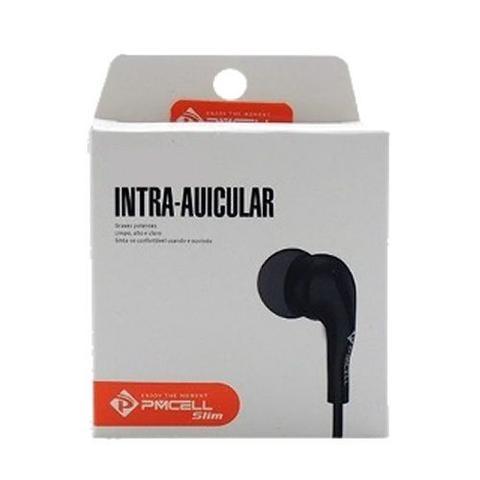 Imagem de Fone de ouvido Intra Auricular com Microfone Slin Preto FO-11