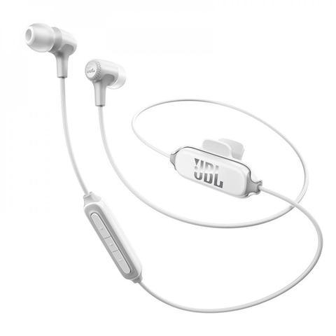 Fone de Ouvido Intra-auricular Bluetooth e Kit Comunicação Branco Jbl E25bt