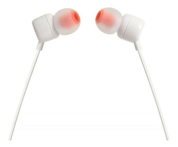 Imagem de Fone De Ouvido Intra Auricular Jbl T110 Com Microfone WHITE UN
