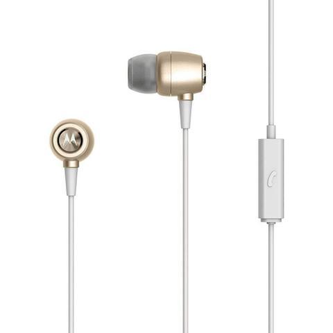 Fone de Ouvido Earbuds Metal Gold Motorola Sh009gold