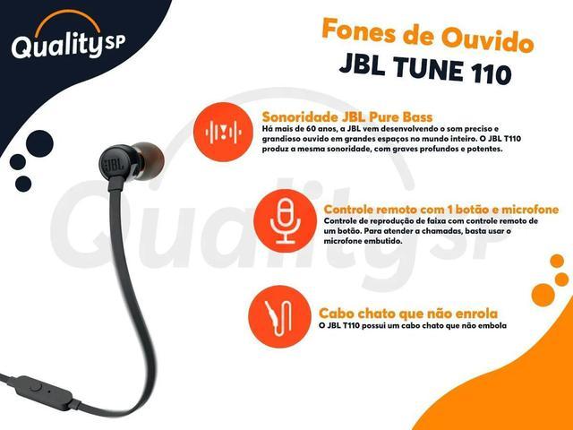 Imagem de Fone De Ouvido Intra Auricular Original Jbl T110 Branco