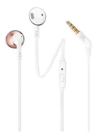 Imagem de Fone de Ouvido JBL com Fio In-Ear Intra-Auricular T205 Branco e Rose
