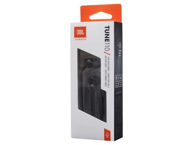 Imagem de Fone de Ouvido JBL Intra-Auricular - com Microfone Preto T110