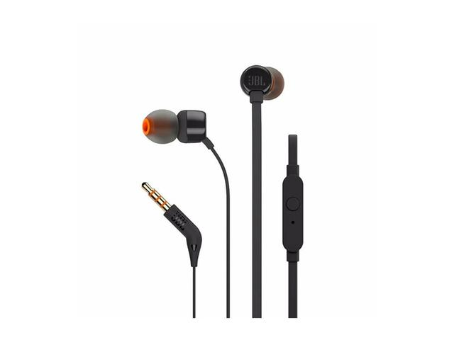 Imagem de Fone de ouvido jbl t110 in ear smartphone black