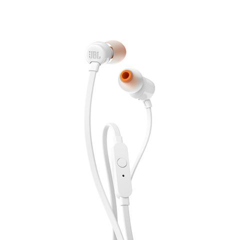 Imagem de Fone de Ouvido JBL T110 WHT Branco Pure Bass com Microfone e Controle para Atender Chamadas T110WHT