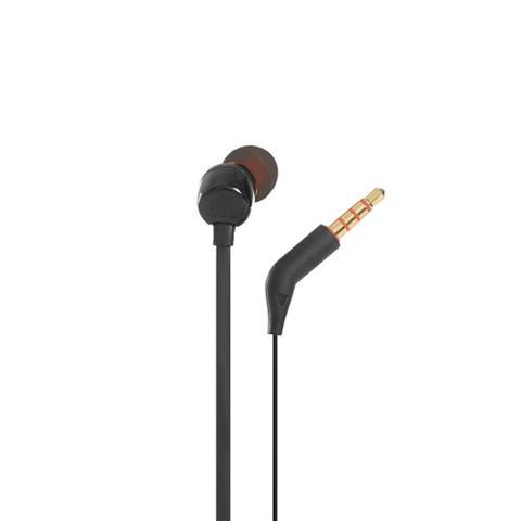 Imagem de Fone de Ouvido JBL Tune 110 Preto Pure Bass com Microfone e Controle para Atender Chamadas T110 BLK