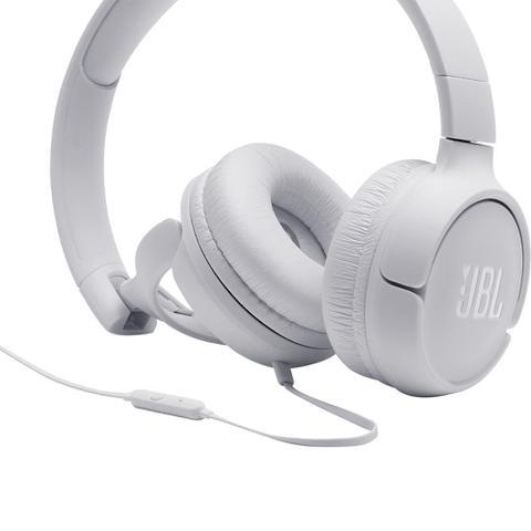 Imagem de Fone de Ouvido JBL Tune 500 Branco Pure Bass Com Microfone Controle para Música Chamadas JBLT500WHT