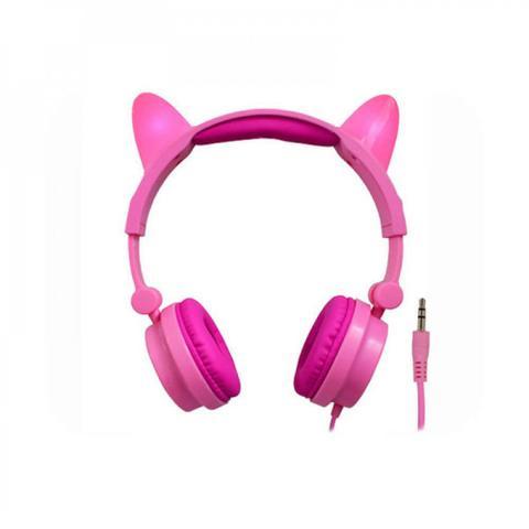 Fone de Ouvido Cat Ear Rosa K-mex Ar31