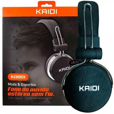 Fone de Ouvido Ouvido Bluetooth Kaidi Kd801