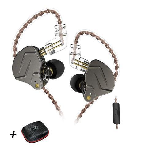 Imagem de Fone de Ouvido KZ ZSN Pro com Microfone (Cinza)(acompanha Case)
