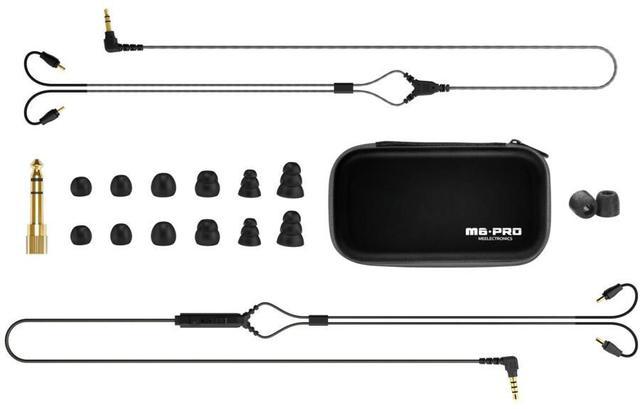 Imagem de Fone de Ouvido Mee Audio M6 Pro Black In Ear com Cabo Destacável, Bag e Diversos Plugs