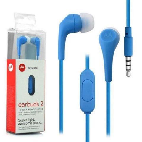 Fone de Ouvido Intra-auricular Earbuds 2 Azul Motorola Xt1600
