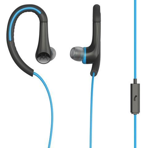 Fone de Ouvido Earbuds Sport Com Microfone Azul Motorola