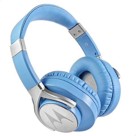 Fone de Ouvido Headphone Com Microfone Pulse Max Wired Azul Motorola Sh004
