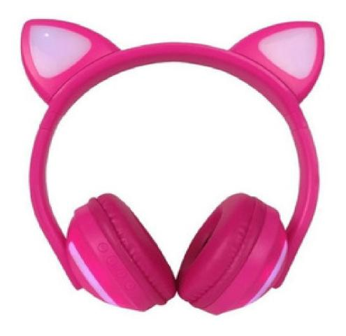 Imagem de Fone de Ouvido Orelha de Gatinha com 7 cores LED Headphone Bluetooth P2