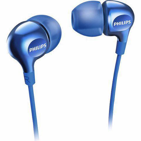 Imagem de Fone de Ouvido Philips Intra Auricular SHE3700BL - Azul