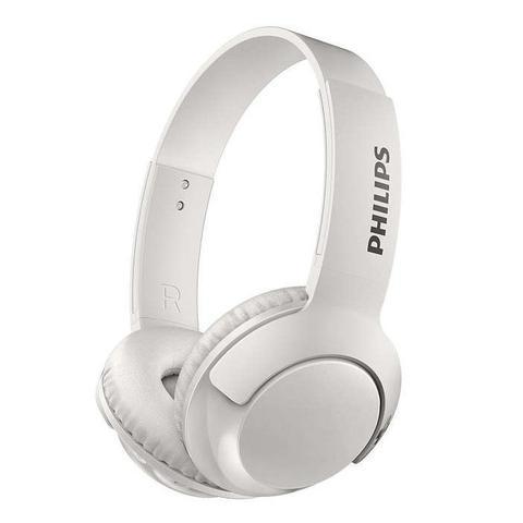 Fone de Ouvido Headphone Sem Fio Bass+ Branco Philips Shb3075wt/00