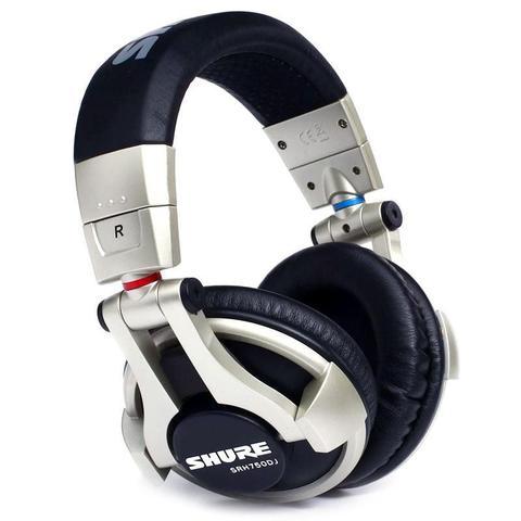 Fone de Ouvido Headphone Profissional Dj Preto Shure Srh750