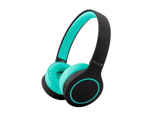 Imagem de Fone de ouvido pulse head beats bluetooth 5.0 preto e verde - ph340