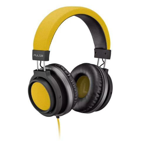 Fone de Ouvido Headphone Large Amarelo Pulse Sound Ph229