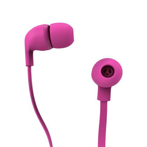 Fone de Ouvido Intra-auricular Rock Color Rosa Aquarius Mtc1415