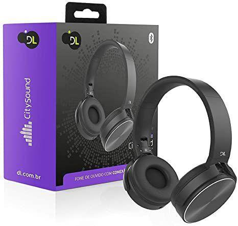 Fone de Ouvido Headphone Bluetooth Citysound Cs7 Preto Dl