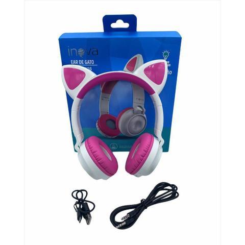 Imagem de Fone de Ouvido Sem Fio Bluetooth Gatinho led Infantil