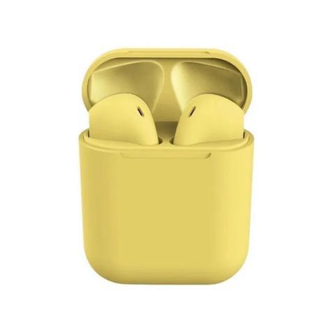 Imagem de Fone de Ouvido Sem Fio Bluetooth i12 Macaron Amarelo