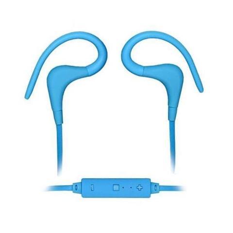 Imagem de Fone de Ouvido Sem Fio Bluetooth Quanta QTB55 Azul Wireless Headset Com Microfone e Controle