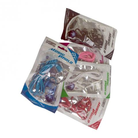 Imagem de Fone De Ouvido Simples Colorido New Intra-auricular Kit 5und
