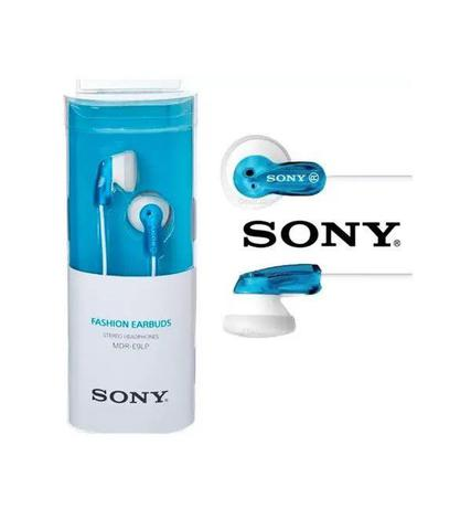 Fone de Ouvido Auricular Azul Sony Mdre9lp