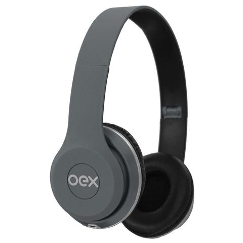 Fone de Ouvido Headphone Style Cinza Newex