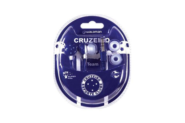 Fone de Ouvido Intra-auricular Super Fan Cruzeiro Waldman Sf10cru