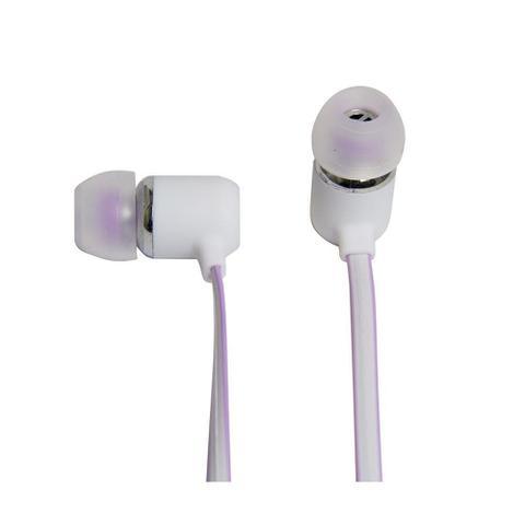 Fone de Ouvido Intra-auricular Com Microfone Flat Branco Vivitar V13386orc