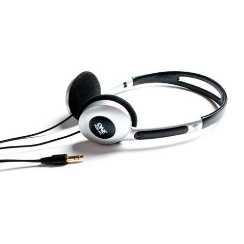 Fone de Ouvido Headphone Super Leve Prata e Preto One For All Sv5320