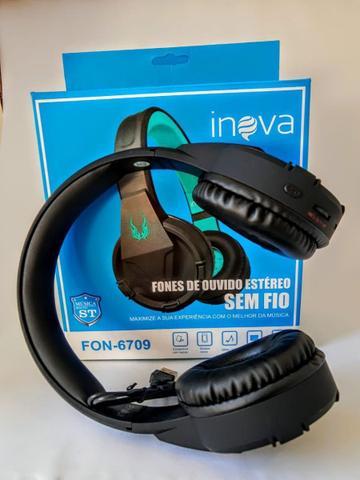 Imagem de Fone Headphone S/fio Bluetooth C/microfone Inova Blackfriday