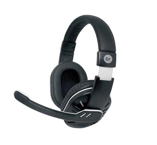 Imagem de Fone Headset com Microfone Preto Computador