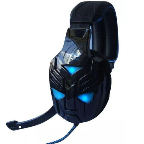 Fone de Ouvido Headphone Gamer Com Led Preto Feasso 706