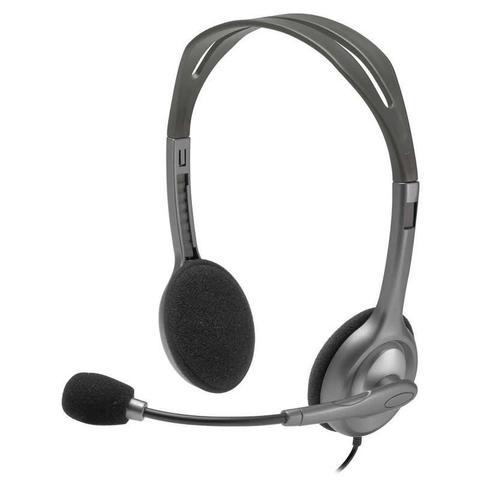 Fone de Ouvido Headset Stéreo Cinza H111 Logitech 981-000612
