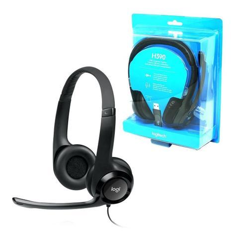 Imagem de Fone Headset Logitech H390 Com Microfone Usb Pc Jogos Couro