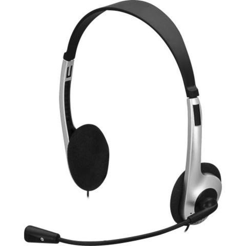 Fone de Ouvido Headset Lite Preto e Prata Fortrek Hb101