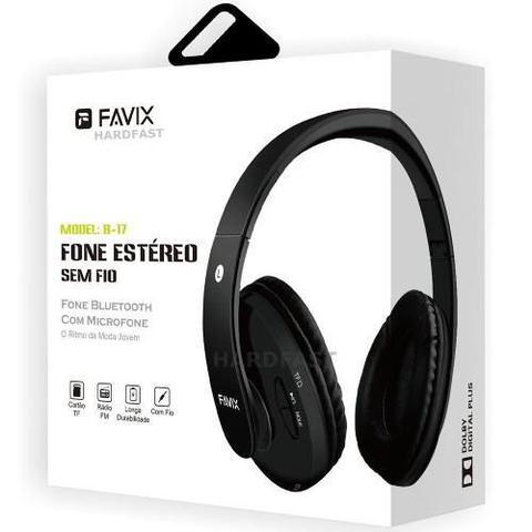 Imagem de Fone Ouvido Favix B17 Bluetooth 4.0 Sem Fio Fm Cartão Mega Bass Spotify Universal