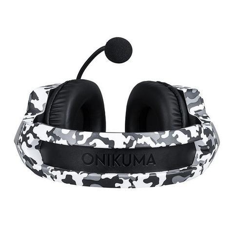 Imagem de Fone Ouvido Gamer Headset Led Onikuma K8 Rgb Jogos Xbox Ps4 Camuflado Branco