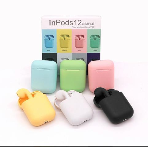 Imagem de Fone sem fio i12 colorido